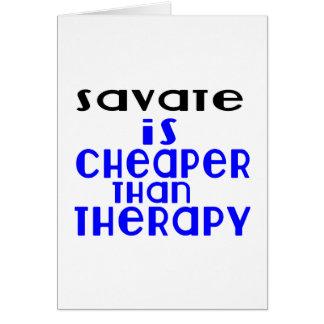 Savate é mais barato do que a terapia cartão
