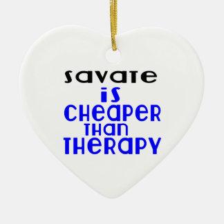 Savate é mais barato do que a terapia ornamento de cerâmica