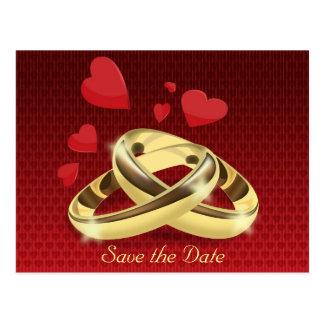 save the date cartão postal