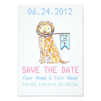 SAVE THE DATE CONVITE 12.7 X 17.78CM