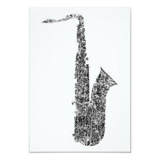 saxofone do grunge convite 8.89 x 12.7cm
