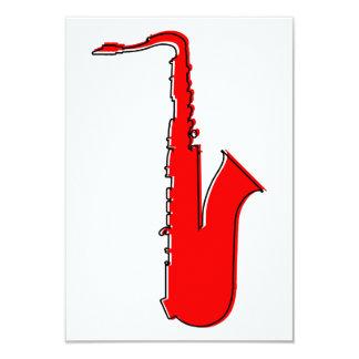 saxofone do oddRex Convite 8.89 X 12.7cm