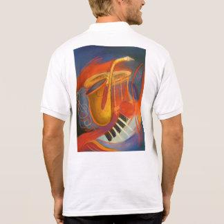 Saxofone do pólo + Piano Camisa Polo
