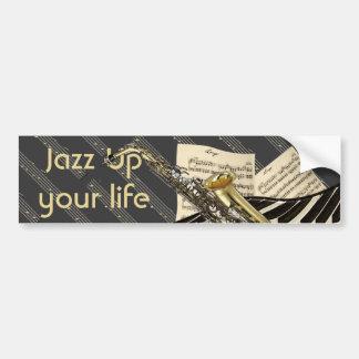 Saxofone & música do piano adesivo para carro