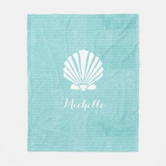 Scallop feminino Shell do Aqua da praia chique com Cobertor De Velo