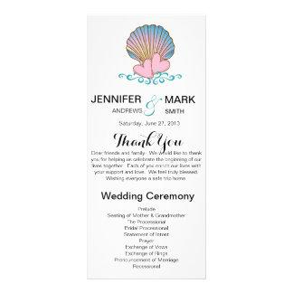 Scallop Shell - programa do casamento Panfleto Personalizado