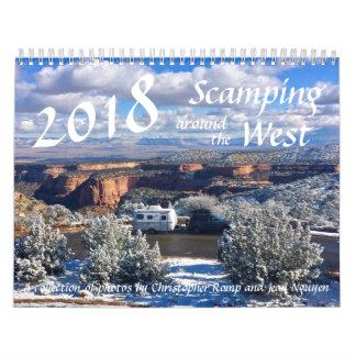 Scamping 2018 em torno do calendário ocidental
