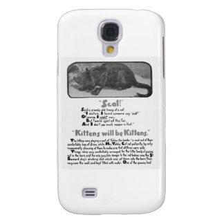 Scat! Poema e trabalhos de arte do gato Galaxy S4 Cases