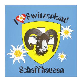 Schaffhausen - Suíça Suisse - linho Impressão Em Tela