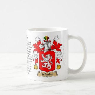 Schulze, a origem, o significado e a crista caneca de café