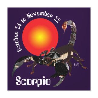 Scorpio October 24 to novembros de 22 Canvas Impressão Em Tela