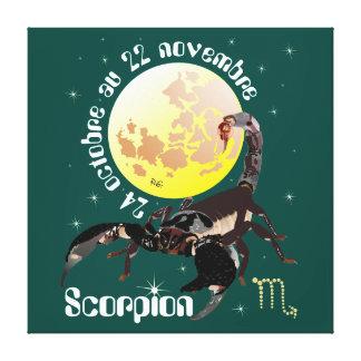 Scorpion 24 oct. au 22 nov. Impression sur toile Impressão Em Tela