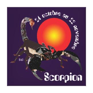 Scorpion 24 oct. au 22 nov. Impression sur toile