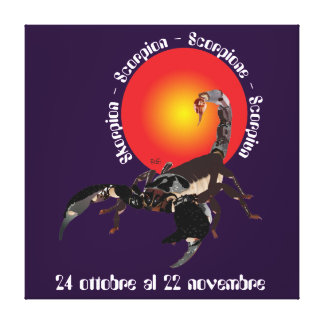 Scorpione 24 al ottobre 22 Stampa novembre su tela Impressão Em Tela