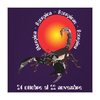 Scorpione 24 al ottobre 22 Stampa novembre su tela