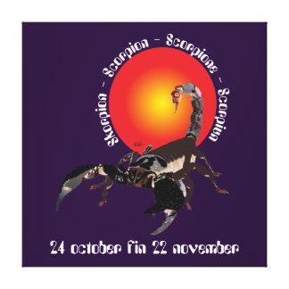 Scorpiun 24 october fin 22 tendas November Impressão Em Tela
