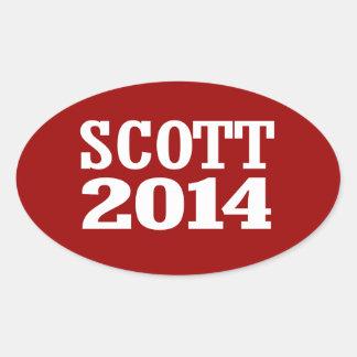 SCOTT 2014 ADESIVOS EM FORMATO OVAL