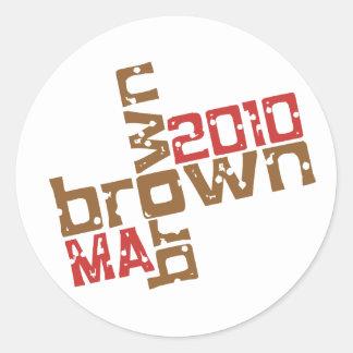 Scott Brown - MÃES 2010 Adesivos