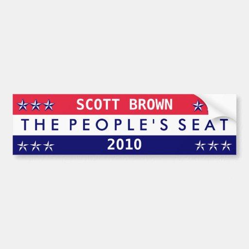 Scott Brown Seat 2010 do pessoa Adesivo