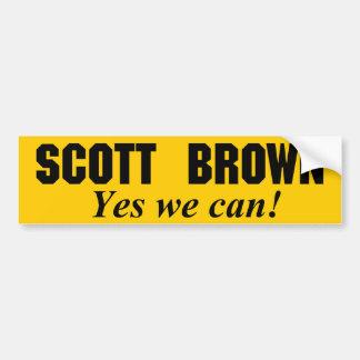 Scott Brown - sim nós podemos Adesivo