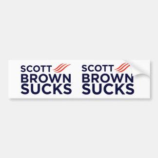 Scott Brown suga etiquetas Adesivos