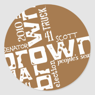 Scott histórico Brown Adesivo Redondo