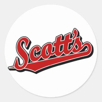 Scott no vermelho adesivos