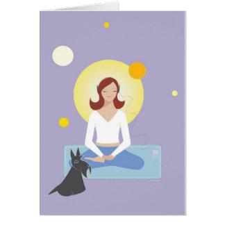 Scottie galão que Meditating - cartão
