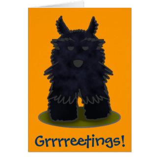 Scottie Grrrreetings! Cartão