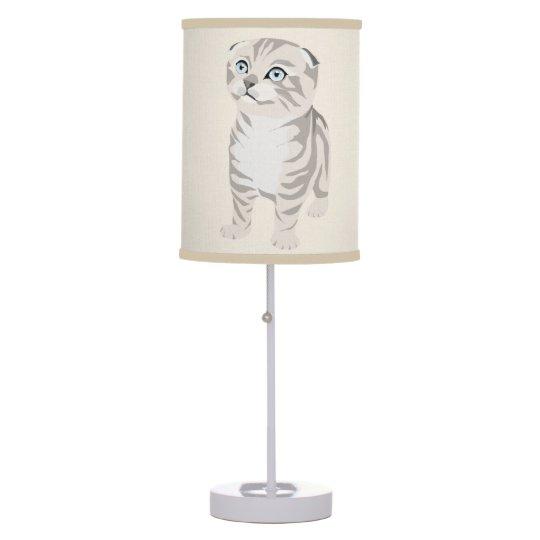  Scottish Fold Kitten Lamp Abajur Luminária