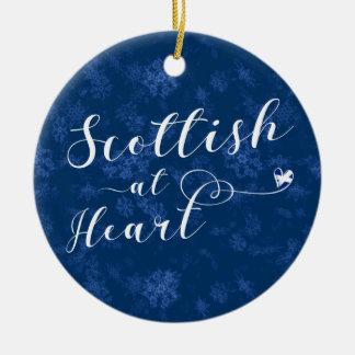 Scottish no coração, ornamento da árvore de Natal