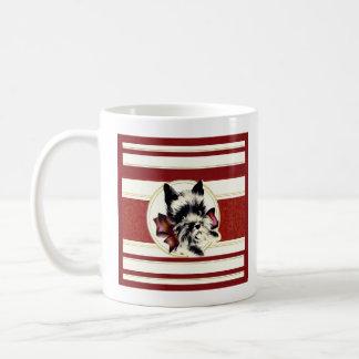 Caneca De Café Scottish preto Terrier do vintage na caneca