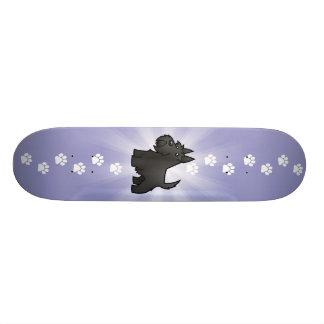 Scottish Terrier dos desenhos animados Shape De Skate 18,4cm