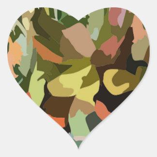 Scrabble da selva adesivo em forma de coração