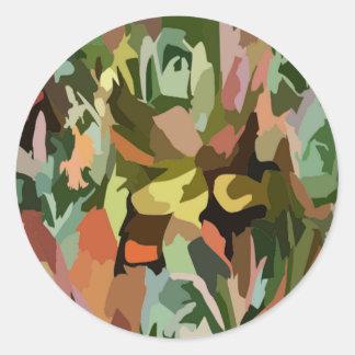 Scrabble da selva adesivos redondos