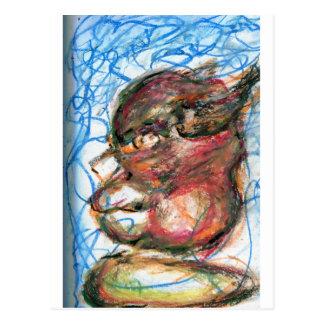 Scribbles da meditação cartão postal