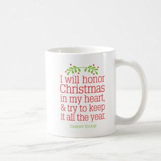 Scrooge, canção de natal do Natal, caneca de café