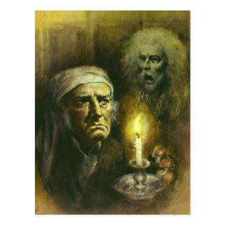Scrooge e cartão do fantasma