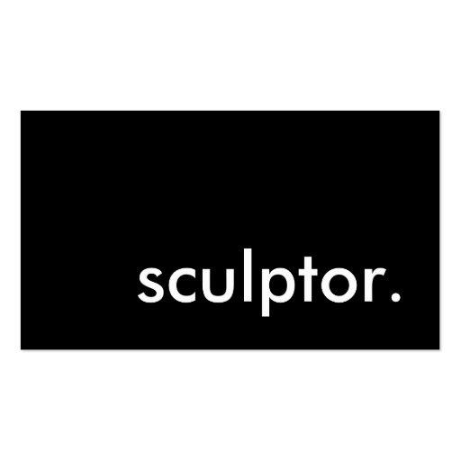 sculptor. cartoes de visitas