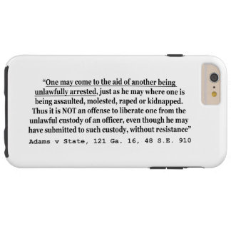 SE 48 910 ilegal do estado 121 GA 16 de Adams v da Capas iPhone 6 Plus Tough
