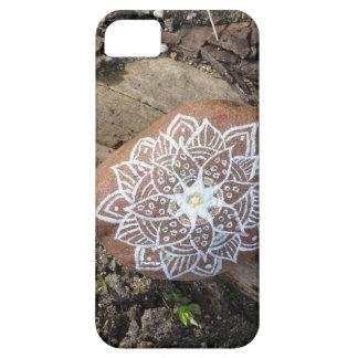 SE de pedra do iPhone da natureza da mandala + Capa Para iPhone 5