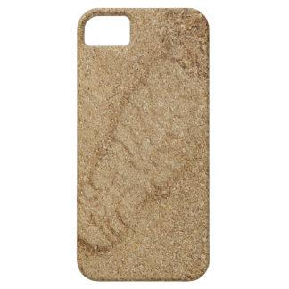 SE do iPhone do impressão da bota da serragem+caso Capa Barely There Para iPhone 5