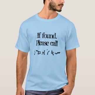 Se encontrado, chame por favor a camisa (da terra)
