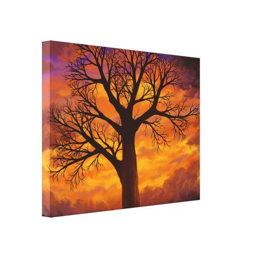 Se eu era uma árvore - impressão das canvas impressão de canvas envolvidas