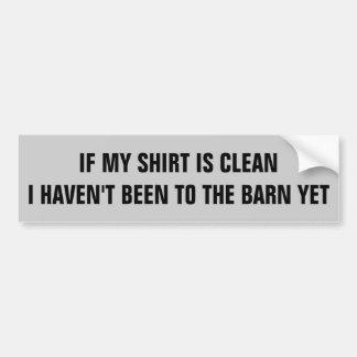 Se eu estou limpo… Reboque do cavalo Adesivo Para Carro