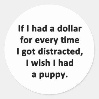Se eu tive um dólar adesivo redondo