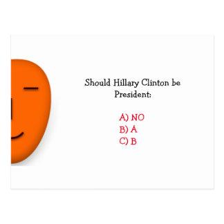 Se Hillary Clinton for presidente Engraçado Cartão