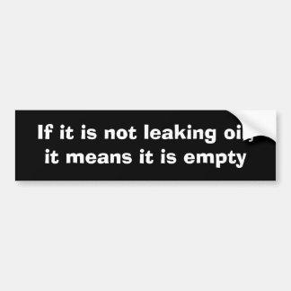 Se não está escapando o óleo, significa que está v adesivo para carro