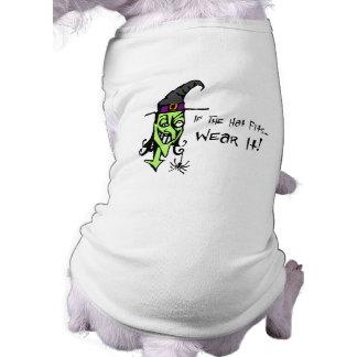 Se o chapéu cabe o t-shirt da bruxa camisa sem mangas para cachorro