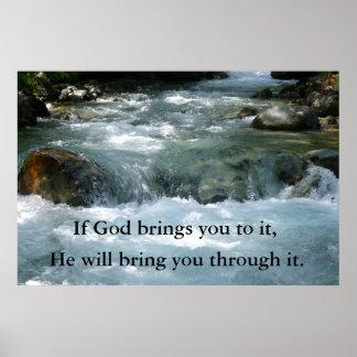 Se o deus lhe traz a ele citações com rio